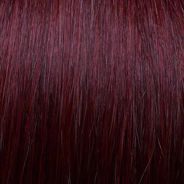 Red and purple mixed hair extensions