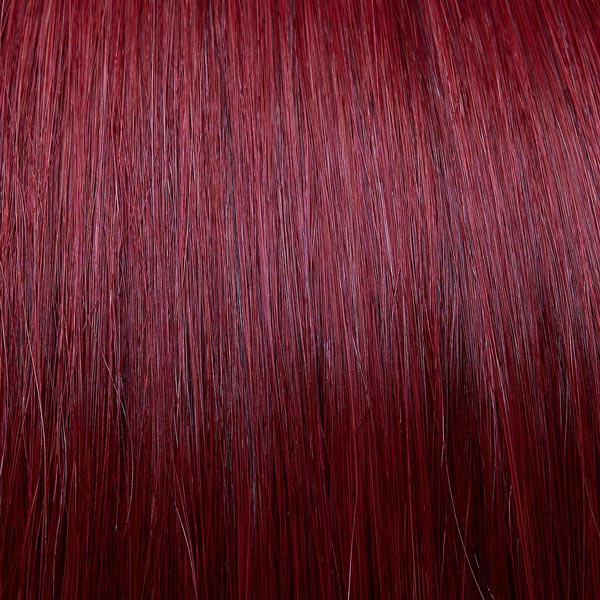 Brilliant red hair extensions