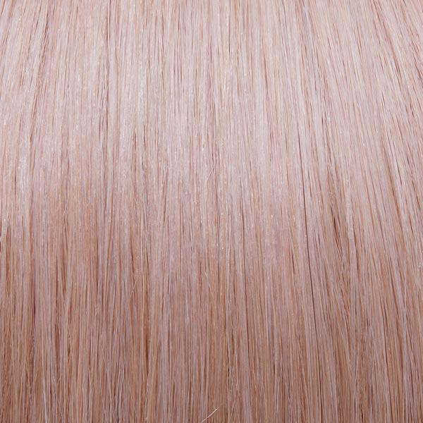 Blush pink hair extensions