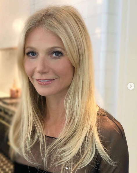 Celebrity Gweneth Paltrow with Great Lengths Hair Extensions
