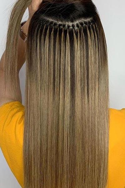 Round Bond Technique hair extensions