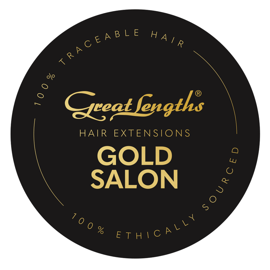 gold hair extensions salon