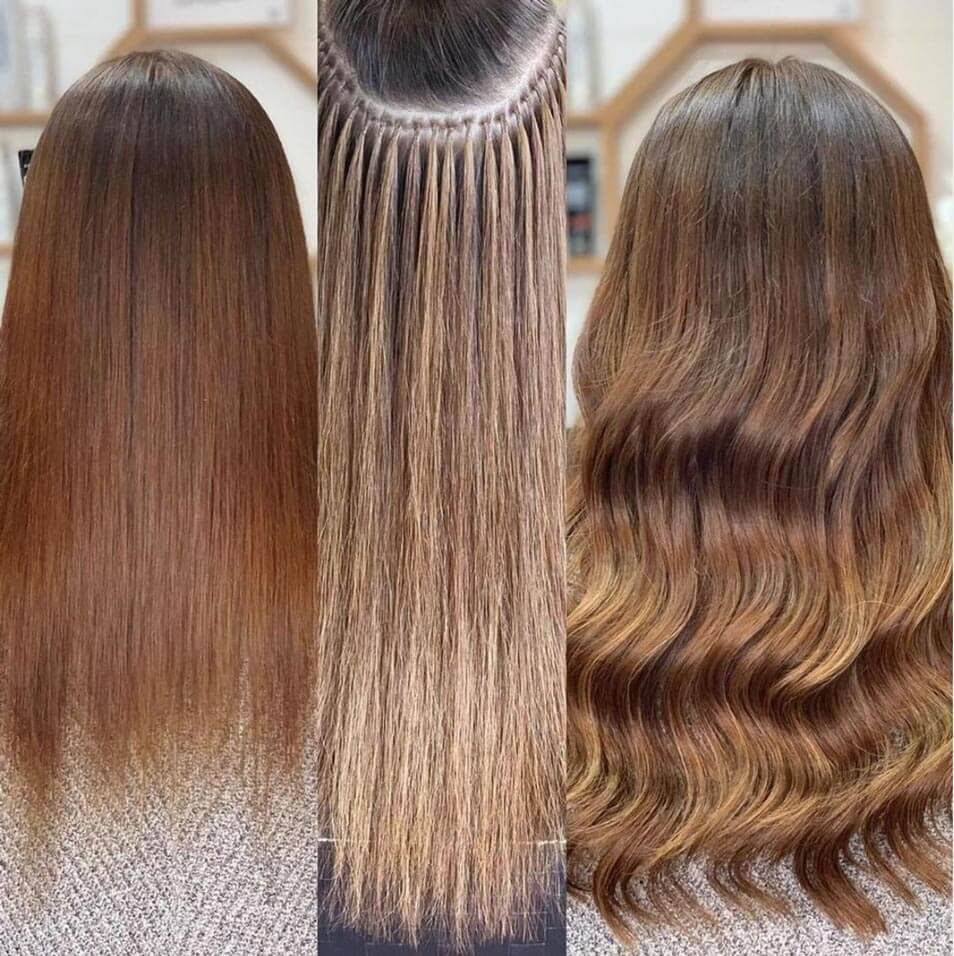image of before and after great lengths application