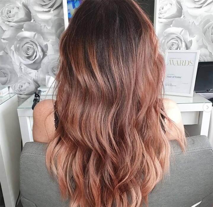 layered hair
